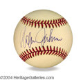 Autographs, Rafer Johnson In-Person Signed Baseball