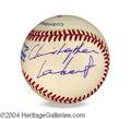 Autographs, Christopher Lambert In-Person Signed Baseball