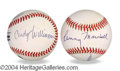 Autographs, Laverne & Shirley In-Person Signed Baseball