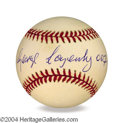 Autographs, George Lazenby 007 In-Person Signed Baseball