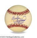 Autographs, Marla Maples In-Person Signed Baseball