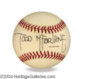 Autographs, Todd McFarlane In-Person Signed Baseball
