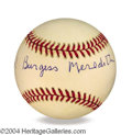 Autographs, Burgess Meredith In-Person Signed Baseball