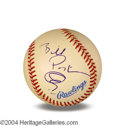 Autographs, Bill Paxton In-Person Signed Baseball