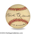 Autographs, Steve Reeves In-Person Signed Baseball