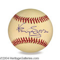 Autographs, Kenny Rogers In-Person Signed Baseball