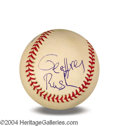Autographs, Geoffrey Rush In-Person Signed Baseball