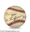 Autographs, Tom Stafford Signed Baseball