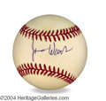 Autographs, James Woods In-Person Signed Baseball