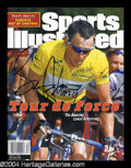 Autographs, Lance Armstrong Signed Sports Illustrated 7-24-00 Issue