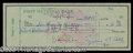 Autographs, Ty Cobb Signed Bank Check