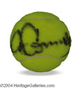Autographs, Jimmy Connors Signed Tennis Ball