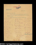 Autographs, 1963 Los Angeles Dodgers Team Signed Letter