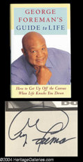 Autographs, George Foreman Signed Book w/ Signing Photo