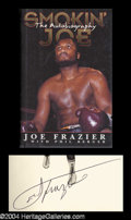 Autographs, Joe Frazier Signed Hardcover Book