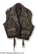 Autographs, Dennis Rodman Screen Worn Leather Jacket