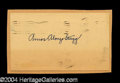 Autographs, Amos Alonzo Stagg Ink Signature