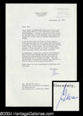 Autographs, Gene Tunney Typed Letter Signed