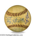 Autographs, Early Wynn Game Used Ball from 254th Victory