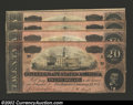 Confederate Notes:1864 Issues, A Group of Four T67 1864 $20s. This group consists of one note ...