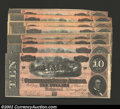 Confederate Notes:1864 Issues, A Group of Eight T68 1864 $10s. This octet contains one note ...