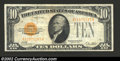 Small Size:Gold Certificates, 1928 $10 Gold Certificate Repeater Note, Fr-2400, VF. This is ...
