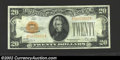 Small Size:Gold Certificates, 1928 $20 Gold Certificate, Fr-2402, Choice AU. This is a very ...