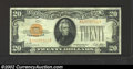 Small Size:Gold Certificates, 1928 $20 Gold Certificate, Fr-2402, VF-XF. This gold ...