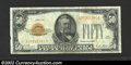 Small Size:Gold Certificates, 1928 $50 Gold Certificate, Fr-2404, Fine. This is a very well ...