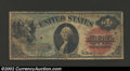 1869 $1 Legal Tender Note, Fr-18, Fine. The body of this attractive rainbow note has a grade of Fine. Unfortunately, thi...