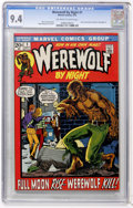Bronze Age (1970-1979):Horror, Werewolf by Night #1 (Marvel, 1972) CGC NM 9.4 Off-white to whitepages....