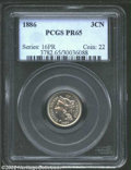 Proof Three Cent Nickels: , 1886 PR 65 PCGS. ...