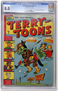 Golden Age (1938-1955):Funny Animal, Terry-Toons Comics #1 (Timely, 1942) CGC VF 8.0 Off-white to white pages....