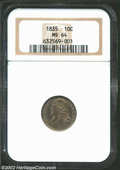 Bust Dimes: , 1835 MS64 NGC. ...