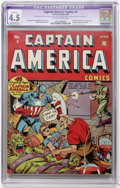 Golden Age (1938-1955):Superhero, Captain America Comics #4 (Timely, 1941) CGC Apparent VG+ 4.5 Moderate (P) Slightly brittle pages....
