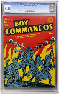 Boy Commandos #1 (DC, 1942) CGC VF 8.0 Off-white to white pages
