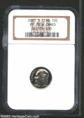 Proof Roosevelt Dimes: , 2001-S Clad PR 70 Deep Cameo NGC. ...