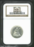 Seated Quarters: , 1881 MS66 NGC. ...