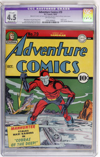 Adventure Comics #79 (DC, 1942) CGC Apparent VG+ 4.5 Moderate (P) Off-white pages
