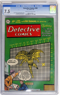 Detective Comics #209 (DC, 1954) CGC VF- 7.5 Cream to off-white pages