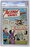 Golden Age (1938-1955):Superhero, Action Comics #196 (DC, 1954) CGC VF/NM 9.0 Off-white pages....