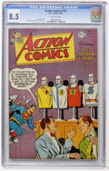 Golden Age (1938-1955):Superhero, Action Comics #197 (DC, 1954) CGC VF+ 8.5 Off-white pages....