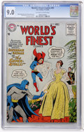 Silver Age (1956-1969):Superhero, World's Finest Comics #85 (DC, 1956) CGC VF/NM 9.0 Off-white to white pages....