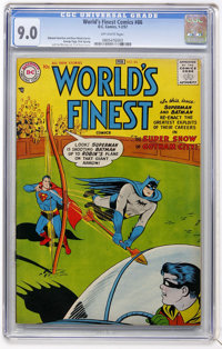 World's Finest Comics #86 (DC, 1957) CGC VF/NM 9.0 Off-white pages