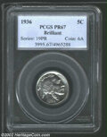 Proof Buffalo Nickels: , 1936 Type Two--Brilliant Finish PR 67 PCGS. The current ...