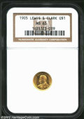 Commemorative Gold: , 1905 Lewis and Clark MS63 NGC. The current Coin Dealer ...
