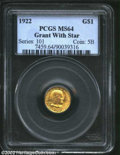 Commemorative Gold: , 1922 Grant with Star MS64 PCGS. ...