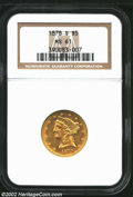 Liberty Half Eagles: , 1878-S $5 MS61 NGC. A conditionally scarce S-mint issue ...