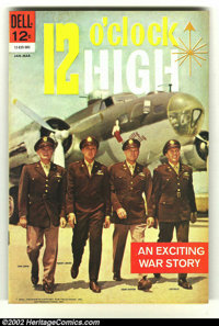 12 O'clock High #1 (Dell, 1965) Condition: FN/VF. Cool photo cover. Overstreet 2002 FN 6.0 value = $15; VF 8.0 value = $...