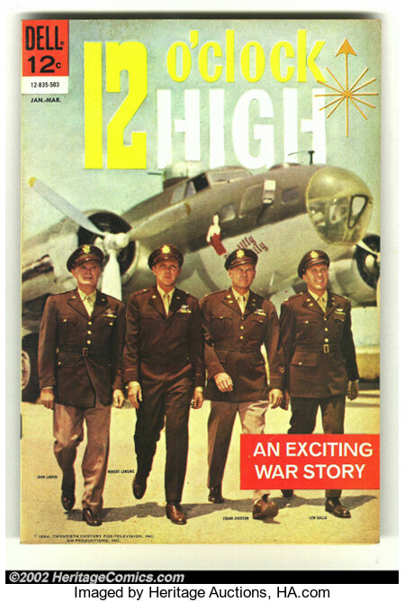 12 O'clock High #1 (Dell, 1965) Condition: FN/VF. Cool photo cover. Overstreet 2002 FN 6.0 value = $15; VF 8.0 value = $35....